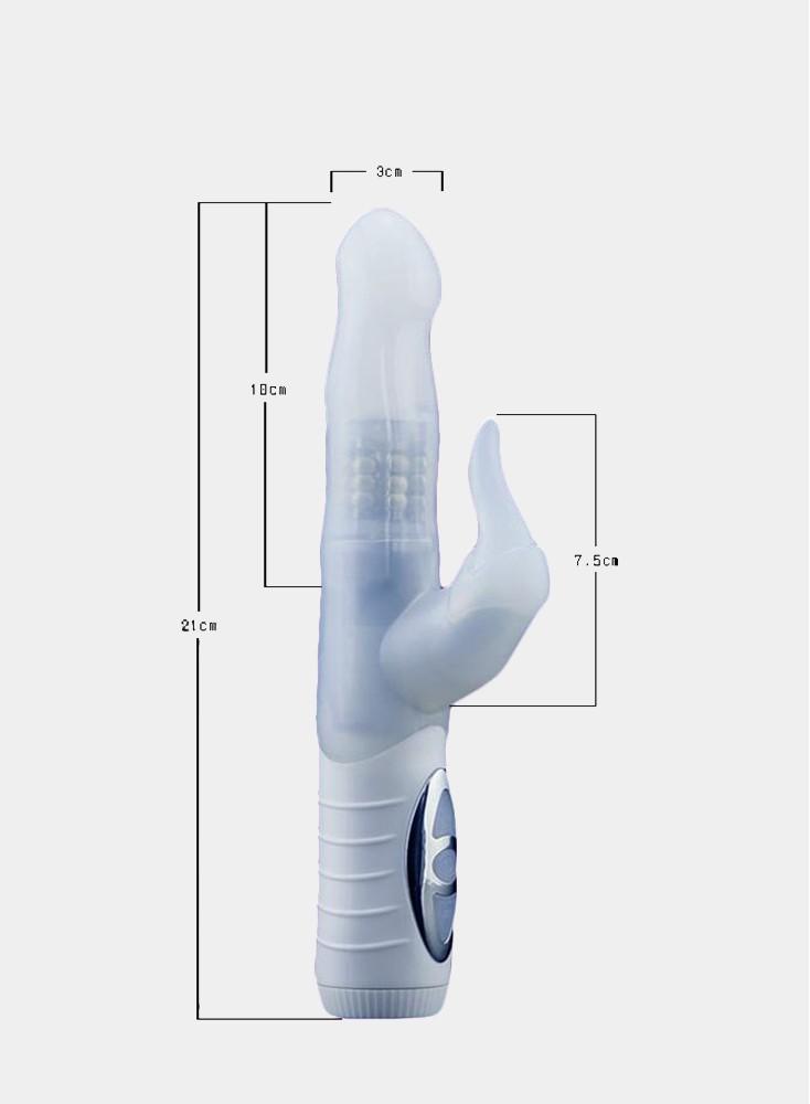 White Realistic Dildo Penis Vibrator Rabbit Vibrator  Clitoris Stimulat Massager Transparent Rotating Beads Sex Toys For Women