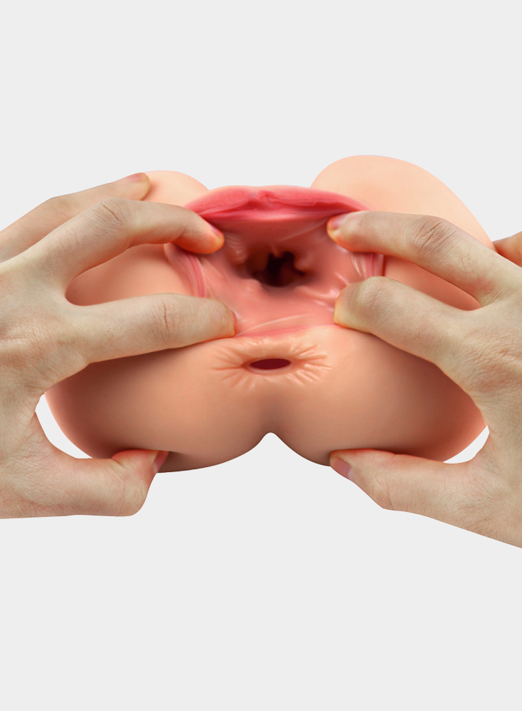 3D Realistic Men Masturbation 2 Holes Lifelike Vagina Pussy Ass