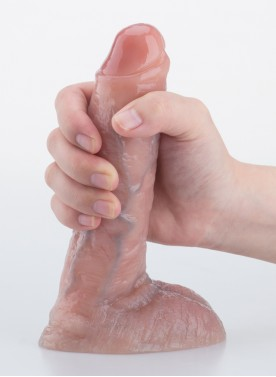 "7"" Realistic Dildo Lifelike Vein Superior Penis Dual Layer Liquid Silicone Bendable"