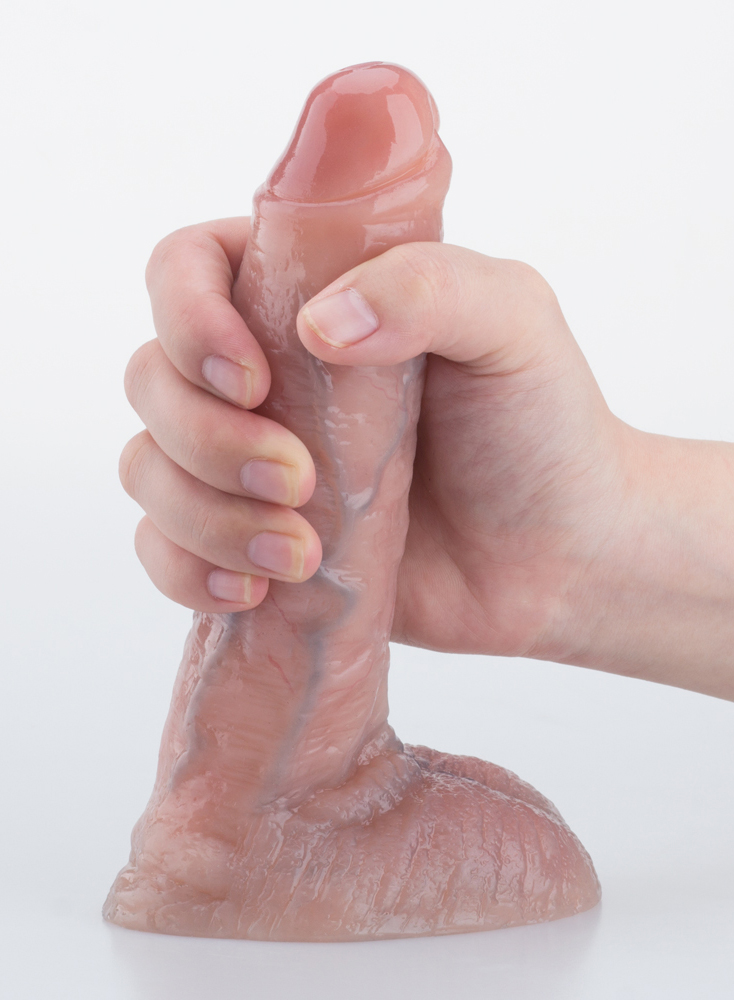 "7"" Realistic Dildo Lifelike Vein Superior Penis Dual Layer Liquid Silicone Bendable"