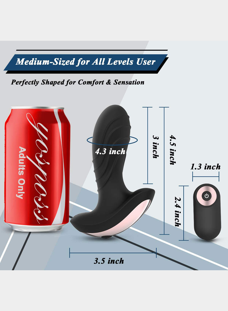Anal Vibrator Vibrating Butt Plug Prostate Massager Rechargeable 10 Powerful Remote Control Waterproof