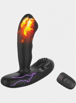 Prostate Massager Heating 16 Vibration Modes P-Sot Stimulation Vibrating Butt Plug Anal Sex Toys