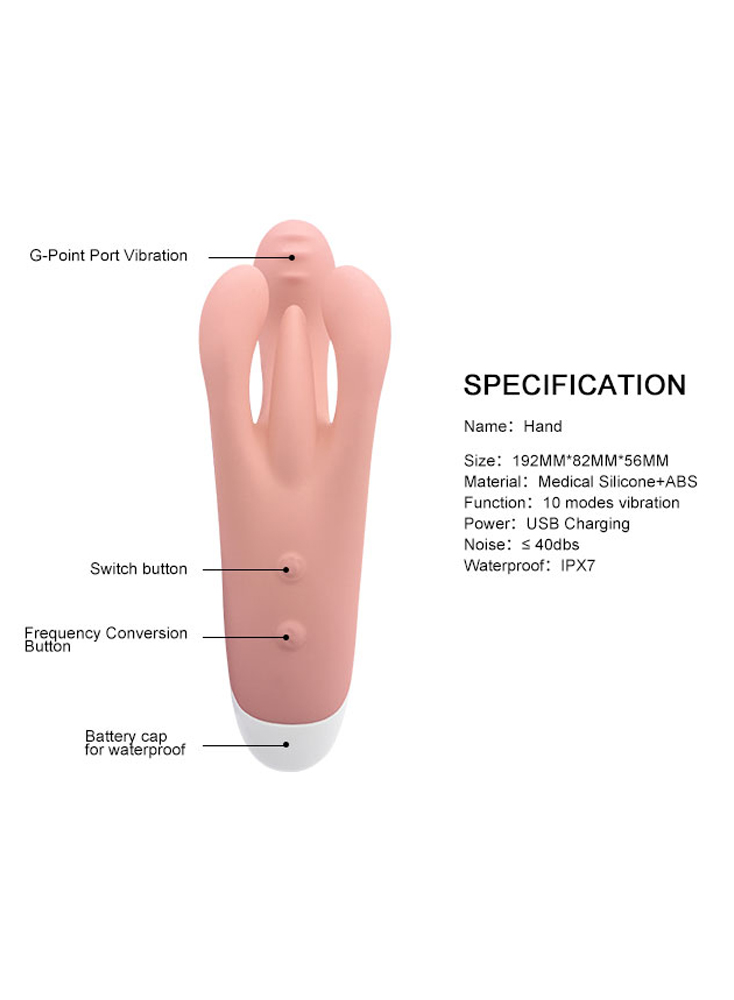Rabbit Vibrator G-spot 3 Motors Clitoral Vaginal Stimulator 10 Vibration