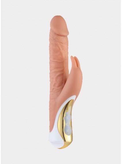 Realistic Rabbit Dildo Clitoris Stimulation Rotating Vibrator 3 Rotating Actions And 7 Vibration Modes Quiet Dual Motor Clit Stimulator Sex Toy For Women