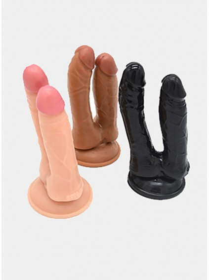 Two Head Penis Two Size Dilo Realistic Penis At The Same Time For The Vagina And Back Door For Women Sex
