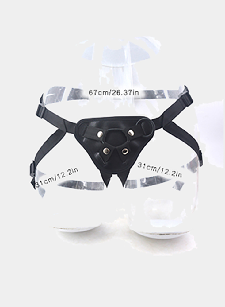 Black straps big dildo pull-ups lesbian pants adjustable straps sucker dildo