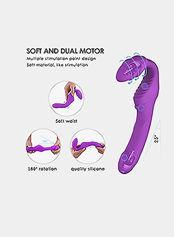 Vibrating Strapless Strap on Dildo Vibrator Sex Toys ; Adorime Silicone Rechargeable Remote Control Female Clitoris Stimulate Adult Gal Pal GSpot Massager for Lesbian and Women