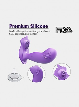 Silicone Bullet Vibrator - Wearable Vibratiing Dildo - Waterproof Remote Control Masturbator for Women, 10-Frequency Dual Action Adults Sex Toy for Female