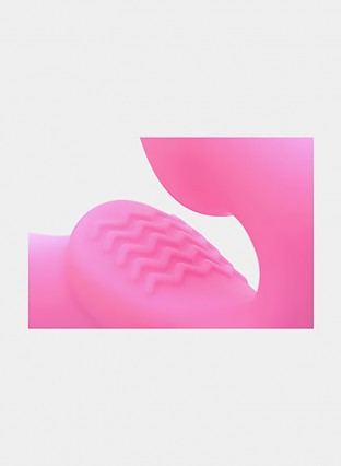 Strap U Urge Silicone Strapless Strap On with Remote, Pink
