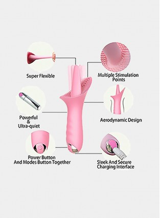 G Spot Clitoral Vibrator Silicone 10 Speed Vibrating Clitoris Vagina Stimulator,Remote Control Oral Tongue Massage Vibrating Sex Toy for Women