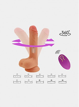 Dildo with 10 Strong Vibration 360°Swirling Motion for Women Orgasm,PALOQUETH Dual Density Vibrating Toy Vibrator with Wireless Remote Strong Suction Cup for Beginners