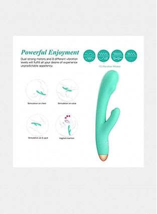 Rechargeable Silicone 10-Speed Vibrator G-Spot Clitoris Stimulator Sex Toy for Women